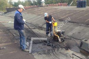 Механизированный демонтаж старой битумной гидроизоляции