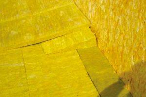 Монтаж теплоизоляционного слоя из базальтовых плит